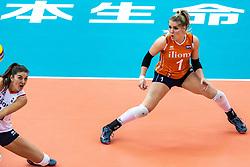 16-10-2018 JPN: World Championship Volleyball Women day 17, Nagoya<br /> Netherlands - China 1-3 / Anne Buijs #11 of Netherlands, Kirsten Knip #1 of Netherlands