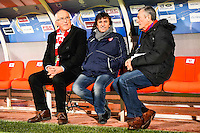 Christian PERDRIER / Jose PASQUALETTI  - 15.12.2014 - Troyes / Nimes - 17e journee Ligue 2<br /> Photo : Fred Porcu / Icon Sport