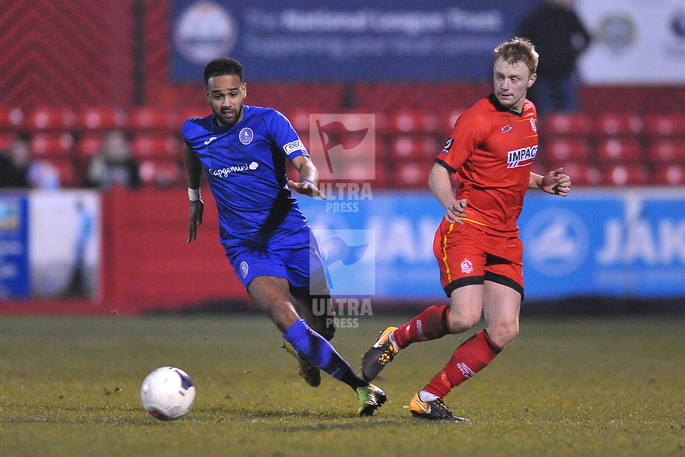 TELFORD COPYRIGHT MIKE SHERIDAN Brendon Daniels of Telford during the Vanarama Conference North fixture between AFC Telford United and Alfreton Town at The Impact Arena on Wednesday, January 1, 2020.<br /> <br /> Picture credit: Mike Sheridan/Ultrapress<br /> <br /> MS201920-038