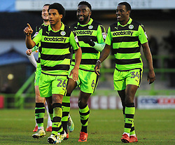 Reuben Reid of Forest Green Rovers celebrates his debut goal - Mandatory by-line: Nizaam Jones/JMP- 06/01/2018 - FOOTBALL - New Lawn Stadium- Nailsworth, England- Forest Green Rovers v Port Vale - Sky Bet League Two