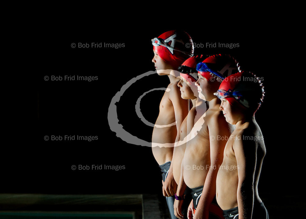 13 August 2011: Richmond Kigoos Swim Club.  The Club prepares to play host to the BC Summer Swimming Provincial Championships to held at Watermania Pool in Richmond , BC.  Kigoos Provincial team Portrait and individuals expected to to excel during the mchmpionships.  ****(Photo by Bob Frid/Freemotionphotography.ca) All Rights Reserved : cell 778-834-2455 : email: bob.frid@freemotionphotography.ca ****