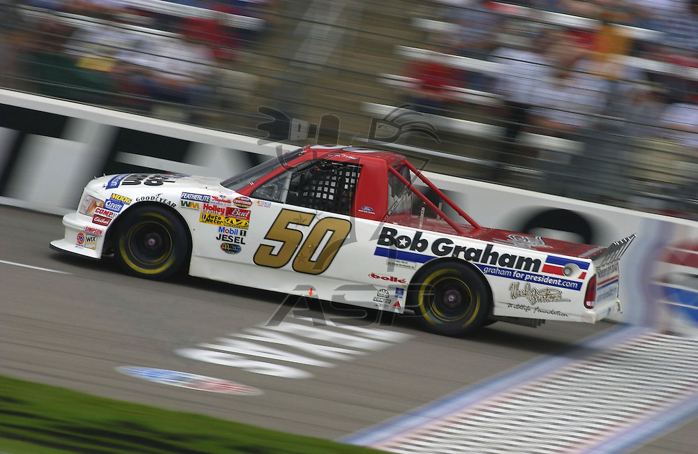Jon Wood and the No. 50 Bob Graham Ford F-150 at the Texas Motor Speedway in Denton, TX.