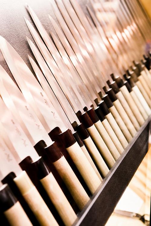 Knives at Aritsugu. Nishiki Market, Kyoto