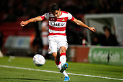 Reece James of Doncaster Rovers during the EFL Sky Bet League 1 match between Doncaster Rovers and Blackpool at the Keepmoat Stadium, Doncaster, England on 17 September 2019.