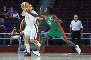 SO Poland athlete Janusz Szkurlat in action during basketball match between SO Poland and SO Portugal while basketball tournament during fifth day of the Special Olympics World Games Los Angeles 2015 on July 29, 2015 at Galen Centre University of Southern California in Los Angeles, USA.<br /> <br /> USA, Los Angeles, July 29, 2015<br /> <br /> Picture also available in RAW (NEF) or TIFF format on special request.<br /> <br /> For editorial use only. Any commercial or promotional use requires permission.<br /> <br /> Adam Nurkiewicz declares that he has no rights to the image of people at the photographs of his authorship.<br /> <br /> Mandatory credit:<br /> Photo by © Adam Nurkiewicz / Mediasport