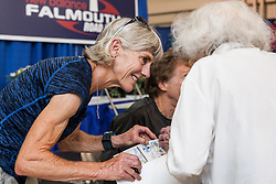 Joan Samuelson signs autographs at expo