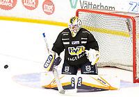 2018-08-04 | Jönköping, Sweden: HV71 (25) Felix Sandström during the HV71 ice premiere at Kinnarps Arena ( Photo by: Marcus Vilson | Swe Press Photo )<br /> <br /> Keywords: Ice Premiere, Season 2018/19, Sweden, SHL, Jönköping, Kinnarps Arena, Ice Hockey, HV71, , Felix Sandström, Goalie