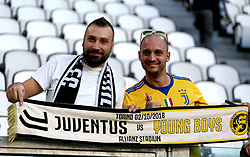 Juventus fans in the stands