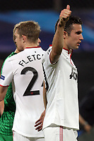 Patrice Evra (L), Robin van Persie (C) and Rio Ferdinand (R) of Manchester United celebrate after the UEFA Champions League, Group H, soccer match against CFR Cluj, at Dr. Constantin Radulescu Stadium in Cluj-Napoca, Romania, 2 October 2012.