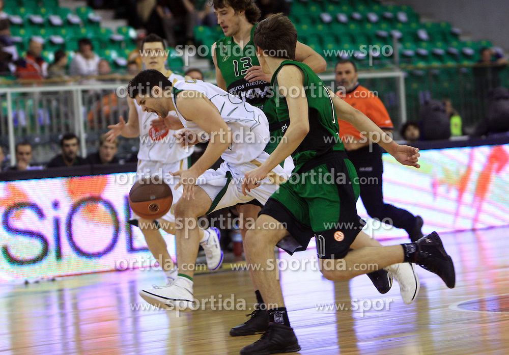 Saso Ozbolt at basketball match of 6th Round of Group C in Euroleague between KK Union Olimpija and DKV Joventut, on December 4, 2008 in Arena Tivoli, Ljubljana, Slovenia. Union Olimpija : DKV Joventut 65:86. (Photo by Vid Ponikvar / Sportida)
