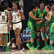March 31, 2019; Portland, OR, USA;  in the second half of Elite Eight of the NCAA Women's Tournament at Moda Center.<br /> Photo by Jaime Valdez