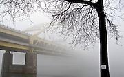 Ft. Pitt Bridge in the morning fog.