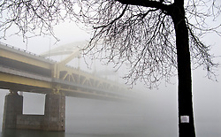 Ft. Pitt Bridge in the morning fog.