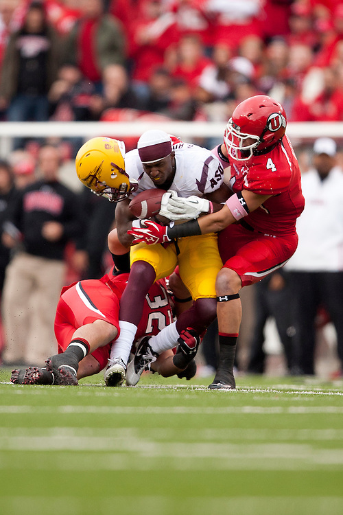 Arizona State University beats University of Utah 35 to 14.  The Game took place at Utah October 8, 2011, #4, 4,  .Photo by: Nathan Sweet