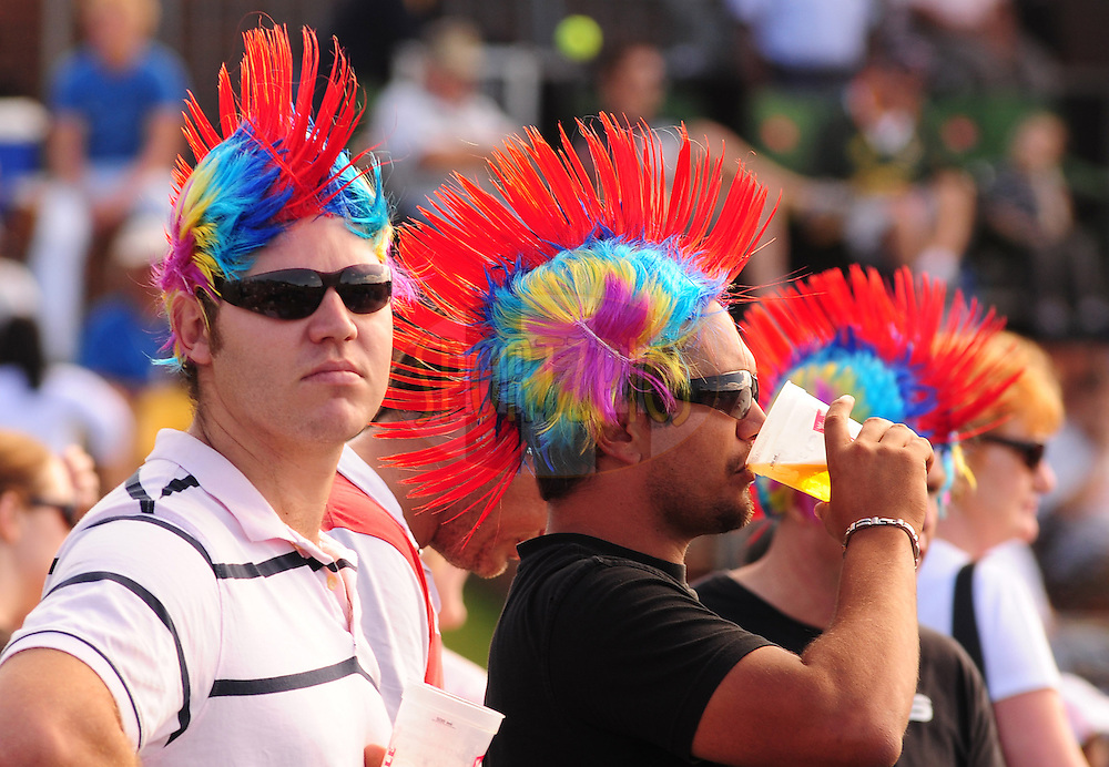 EAST LONDON, SOUTH AFRICA - 1 May 2009.  spectators during the  IPL Season 2 match between the Mumbai Indians and the Kolkata Knight Riders held at Buffalo Park in East London. South Africa...