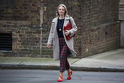 London, UK. 15th January, 2019. Elizabeth Truss MP, Chief Secretary to the Treasury, arrives at 10 Downing Street for a Cabinet meeting on the day of the vote in the House of Commons on Prime Minister Theresa May's proposed final Brexit withdrawal agreement.