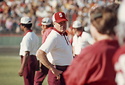 COLLEGE FOOTBALL:  Stanford Head Coach Jack Christiansen during a game in November 1974 at Stanford Stadium in Palo Alto, California.  Photograph by David Madison ( www.davidmadison.com ).