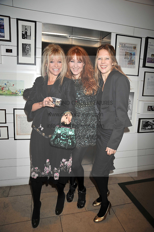 Left to right, JO WOOD, CHARLOTTE TILBURY and TILLY WOOD at the MAC Salutes party paying tribute to renowned makeup artists held at The Hosptal, Endell Street, London on 22nd February 2009.