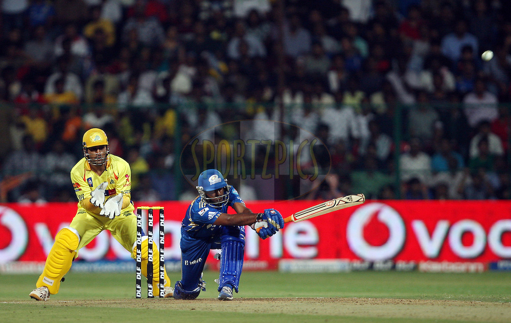 Ambati Rayudu during the IPL 2012 Season 5 eliminator match between The Mumbai Indians and The Chennai Superkings held at the M. Chinnaswamy Stadium, Bengaluru on the 23rd May 2012..Photo by Jacques Rossouw/IPL/SPORTZPICS