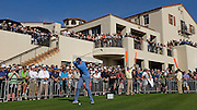 PACIFIC PALISADES, CA - FEBRUARY 20:  Rory McIlroy of Northern Ireland tees off on the first hole during the third round of the Northern Trust Open at Riviera Country Club on February 20, 2016 in Pacific Palisades, California. (Photo by Chris Condon/PGA TOUR)