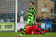 Forest Green Rovers Olly Mehew during the Pre-Season Friendly match between Forest Green Rovers and Cardiff City at the New Lawn, Forest Green, United Kingdom on 13 July 2016. Photo by Shane Healey.