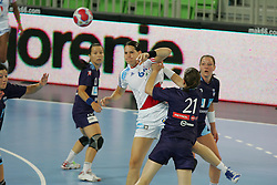 Lacrabere Alex of France during handball match between National teams of Slovenia and France of 2011 Women's World Championship Play-off, on June 12, 2011 in Arena Stozice, Ljubljana, Slovenia. (Photo By Urban Urbanc / Sportida.com)