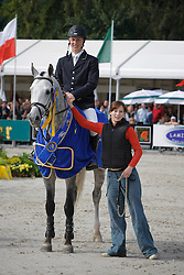 Brondeel Donaat - Breemeersen Adorado<br /> World Championship Young Horses Lanaken 2008<br /> Photo Copyright Hippo Foto