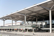 Modern architecture of Malaga airport, Spain