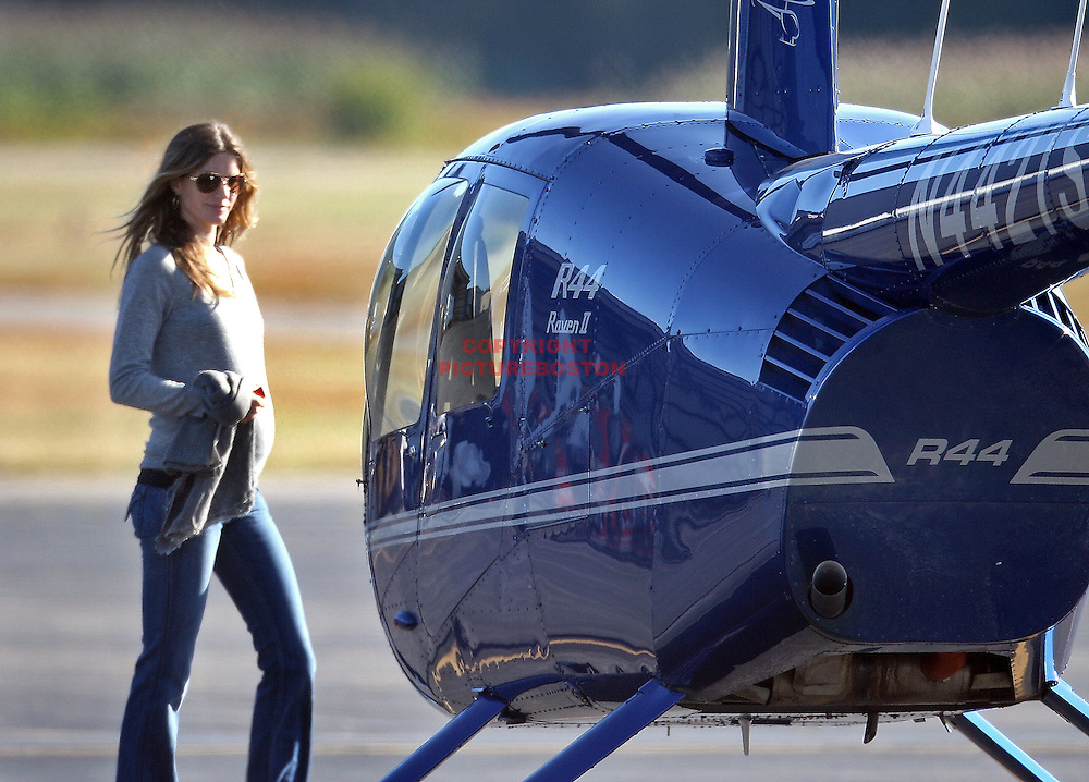 Gisele Bundchen takes helicopter lessons in Boston,MA Photo by Mark Garfinkel