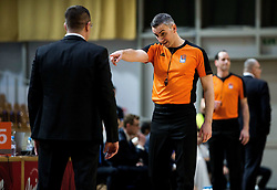 Referee and Aleksandar Saso Nikitovic, coach of Petrol Olimpija during basketball match between KK Petrol Olimpija and Buducnost VOLI in Round #17 of ABA League 2018/19, on January 28, 2019 in Arena Tivoli, Ljubljana, Slovenia. Photo by Vid Ponikvar / Sportida
