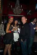 SABRINA MOUTARDE; SHRUTI THAKRAR-VARA; TONY LYNCH. The Pirate Provocateur Extravaganza launch party for the new Agent Provocateur Winter collection and for the release of Dirty Stop Out's new album 'Cuntro Classics' at KOKO. Campden. London. 13 November 2008 *** Local Caption *** -DO NOT ARCHIVE-© Copyright Photograph by Dafydd Jones. 248 Clapham Rd. London SW9 0PZ. Tel 0207 820 0771. www.dafjones.com.