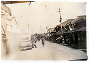 ca 1930s Japanese town main street