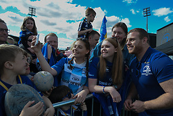 May 13, 2018 - Dublin, Ireland - Leinster's Sean Cronin poses for a selfie with fans during the homecoming ceremony at Energia Park, Donnybrook, following their victory in the European Champions Cup Final in Bilbao, Spain..On Sunday, May 13, 2018, in Donnybrook, Dublin, Ireland. (Credit Image: © Artur Widak/NurPhoto via ZUMA Press)