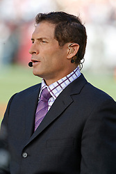 September 20, 2010; San Francisco, CA, USA;  ESPN commentator Steve Young before the game between the San Francisco 49ers and the New Orleans Saints at Candlestick Park.