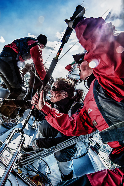 Swiss women only sailing team ChicaCER in action