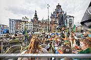 Nederland, Nijmegen, 5-3-2018Na de snijdende kou van vorige week is het vandaag een mooie lentedag met temperaturen voor een eerste terrasje .Foto: Flip Franssen