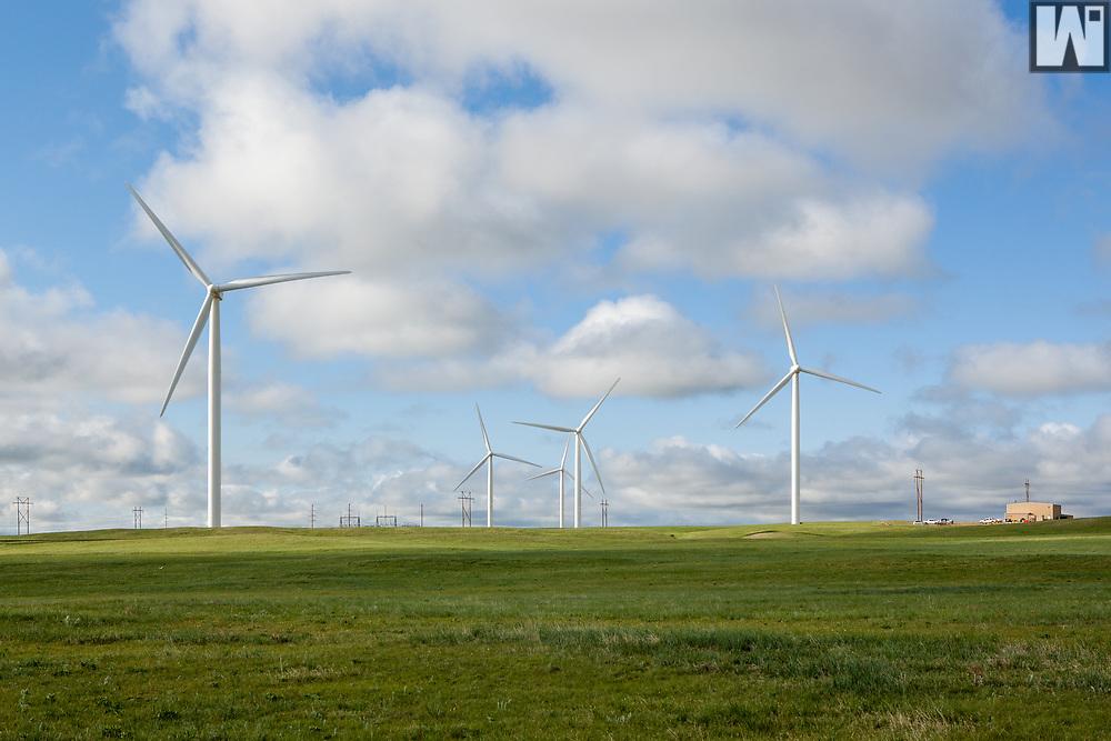 Happy Jack Wind Farm, Cheyenne, WY.  Photographed from Happy Jack Road