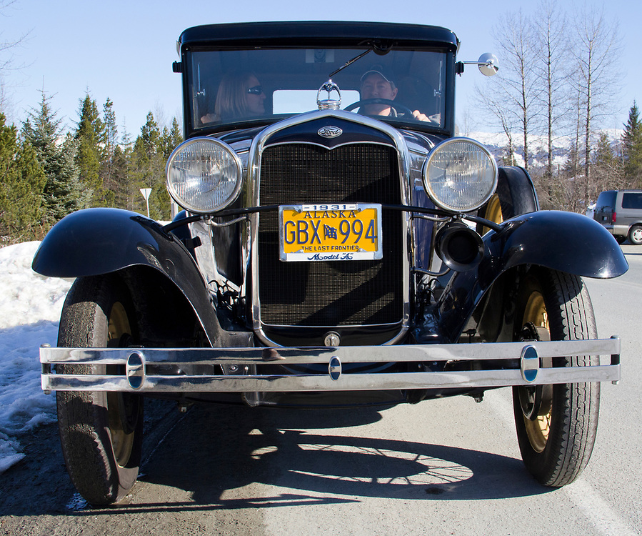 A beautifully maintained Model A from 1931 comes out on a rare sunny day in Gustavus. MR