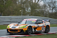Century Motorsport #43 Ginetta G55 GT4 Steve Fresle/Jacob Mathiassen GT4 Pro/AMduring British GT Championship as part of the BRDC British F3/GT Championship Meeting at Oulton Park, Little Budworth, Cheshire, United Kingdom. April 15 2017. World Copyright Peter Taylor/PSP.  Copy of publication required for printed pictures.  Every used picture is fee-liable. http://archive.petertaylor-photographic.co.uk