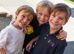 Scenes of  the Santa Rosa French-American Charter School in Santa Rosa,  California .  Groups of happy students at recess.