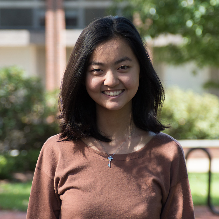 Executive Features Editor Nina Joung poses for a portrait on September 23. ( Seohyun Shim / The Tufts Daily )