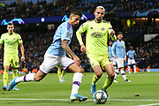 Manchester City defender Joao Cancelo (27) runs to the line to put the cross in during the Champions League match between Manchester City and Dinamo Zagreb at the Etihad Stadium, Manchester, England on 1 October 2019.