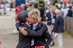 VOGEL Anna-Katharina (GER), KLIMKE Ingrid (GER)<br /> Luhmühlen - LONGINES FEI Eventing European Championships 2019<br /> Impressionen am Rande<br /> Finales Springen<br /> Show Jumping<br /> 01. September 2019<br /> © www.sportfotos-lafrentz.de/Dirk Caremans