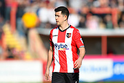 Lloyd James (4) of Exeter City during the EFL Sky Bet League 2 match between Exeter City and Yeovil Town at St James' Park, Exeter, England on 25 March 2017. Photo by Graham Hunt.