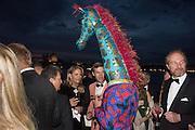 Valentina Marini Clarelli; GARRET MOORE; Gianni Giraffe,  Venetian Heritage Gala Dinner Dance.  Hotel  Cipriani,, Venice Biennale, Venice. 9 May 2015