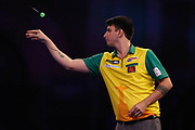 Diogo Portela during the Darts World Championship 2018 at Alexandra Palace, London, United Kingdom on 18 December 2018.