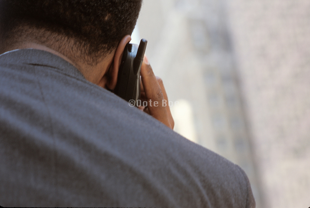 business man using a cell phone