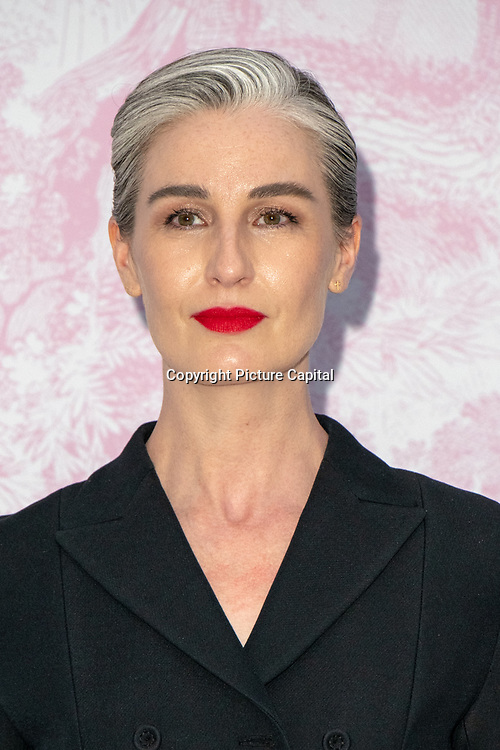 Erin O'Connor arrivers at V&A - summer party, on 19 June 2019, London, UK