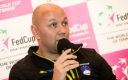 Andrej Krasevec during press conference of Slovenian Women Tennis Team before FedCup Competition 2018, on January 25, 2018 in Tennis Centre Breskvar, Ljubljana, Slovenia.  Photo by Vid Ponikvar / Sportida