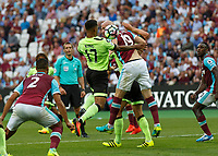 Football - 2016 / 2017 Premier League - West Ham United vs. AFC Bournemouth<br /> <br /> Bournemouth's Joshua King brings the ball under control in the box as Bournemouth push for ant equaliser at The London Stadium.<br /> <br /> COLORSPORT/DANIEL BEARHAM